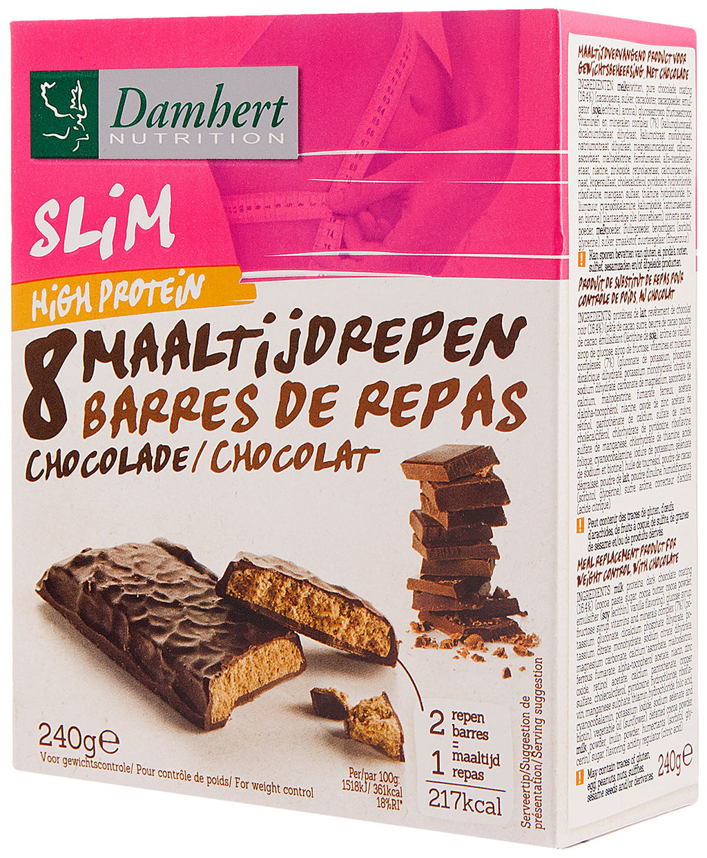 Damhert Slim Protein Bar with chocolate 240g
