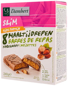 Damhert Slim Protein bar with chocolate & hazelnut high protein 240g
