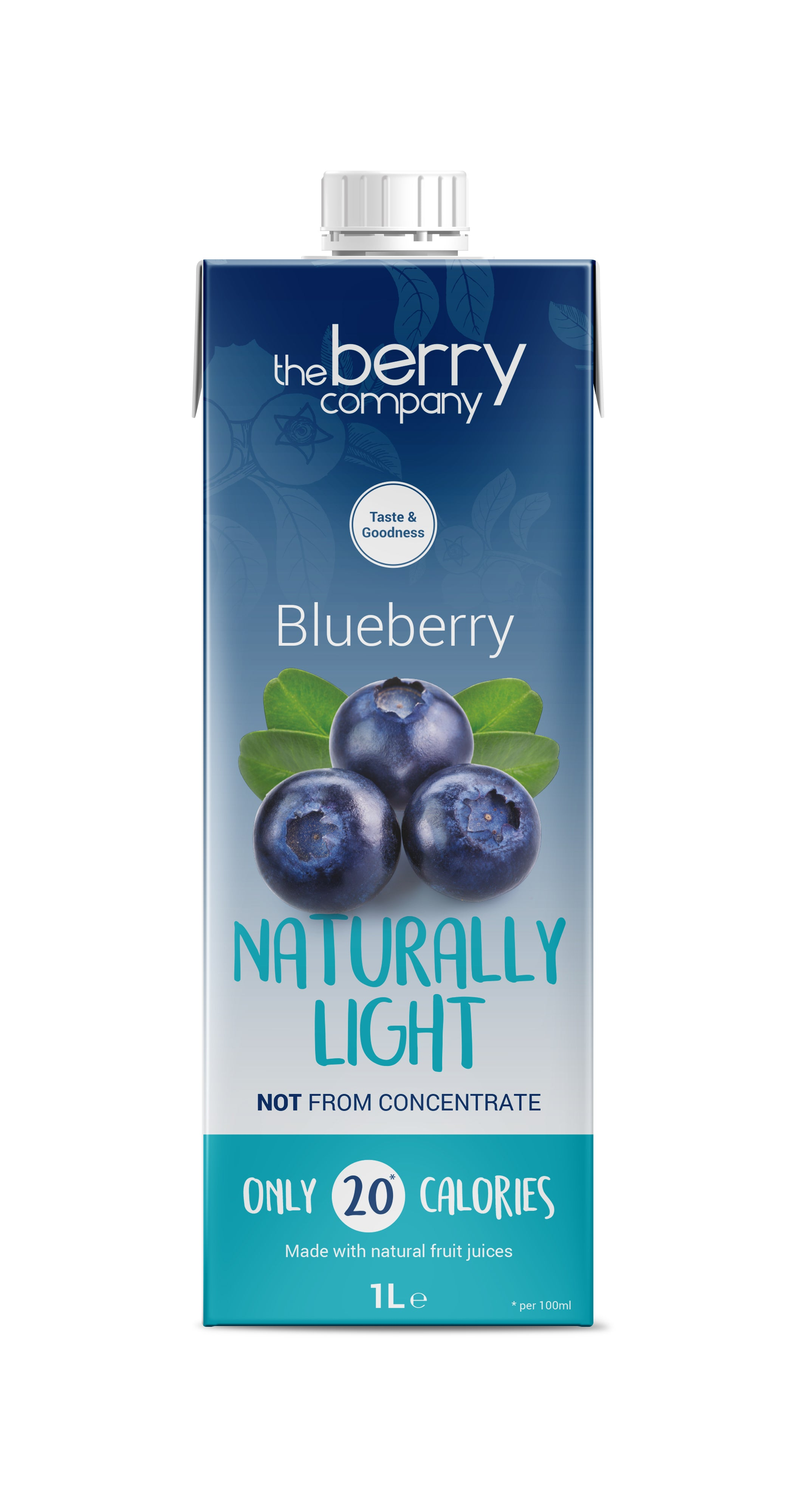 The Berry Company Blueberry Naturally Light 1L