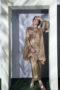 Bronze Lace Detailed Kurta with Culottes