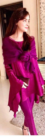 Pink Pure Chamois Rose Shrug with Tunic