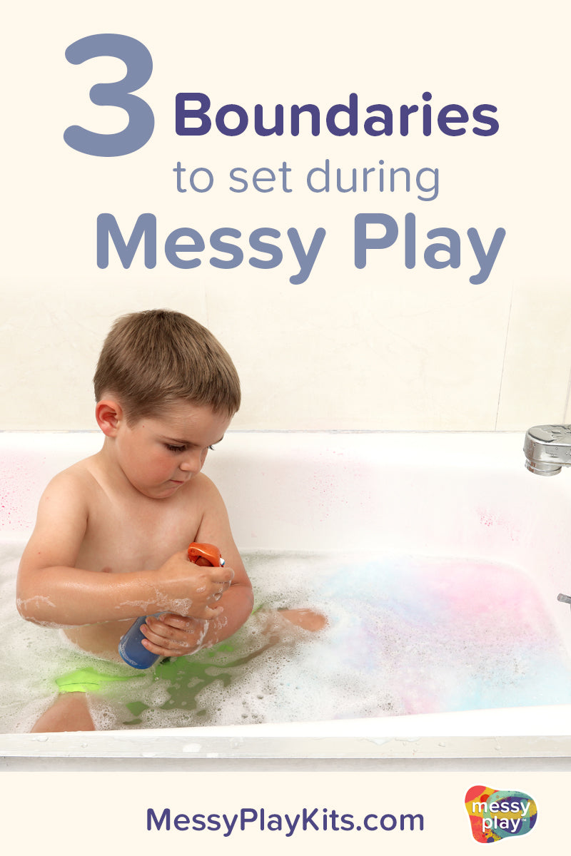 Three boundaries to set for messy play activities