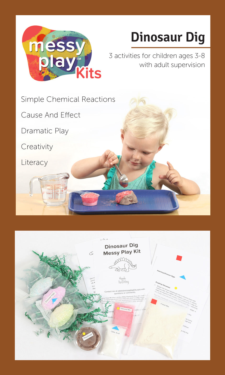 Dinosaur Dig Messy Play Kit Label