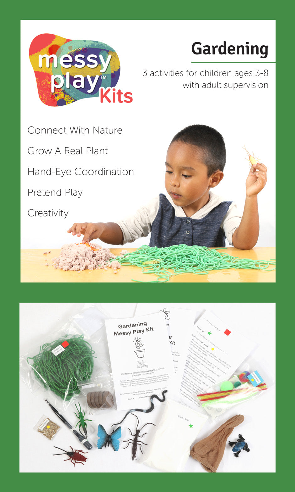 Gardening Messy Play Kit Label