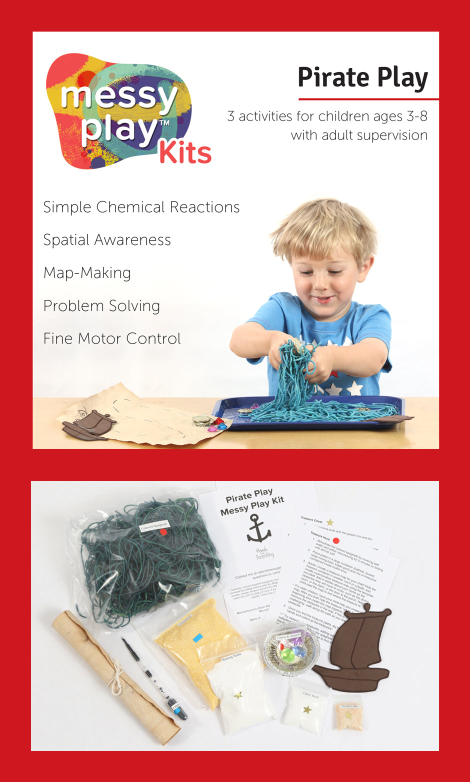 Pirate Play Messy Play Kit Label