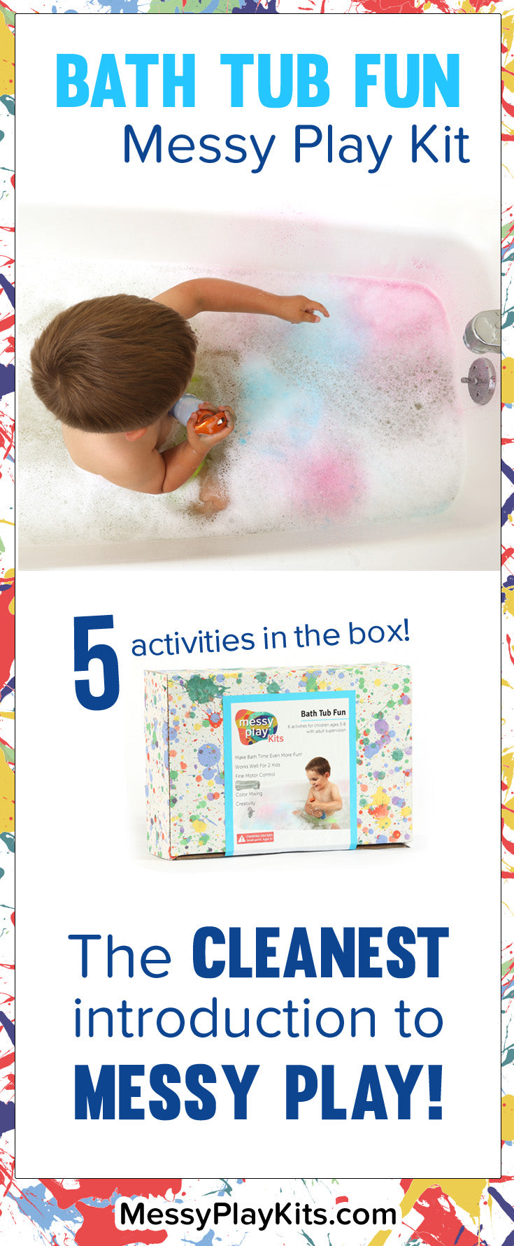 Bath Tub Messy Play Kit