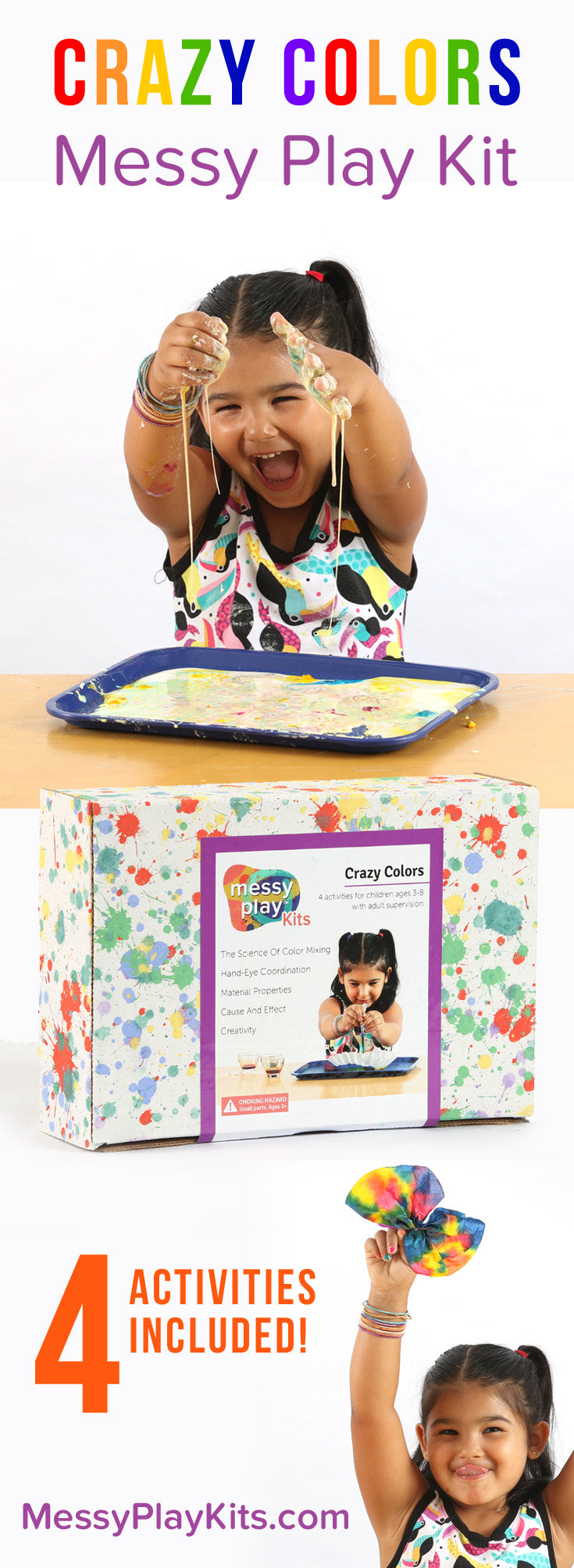 Crazy Colors Messy Play Kits