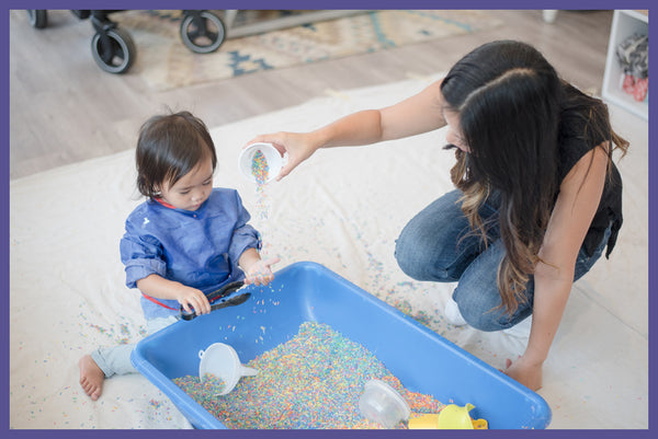 Early childhood enrichment through messy play