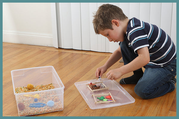 Sensory bins offer flexible enrichment for children