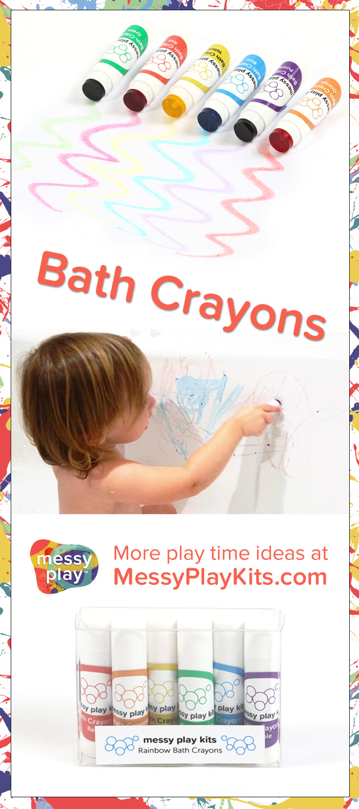 Bath Crayons from Messy Play Kits