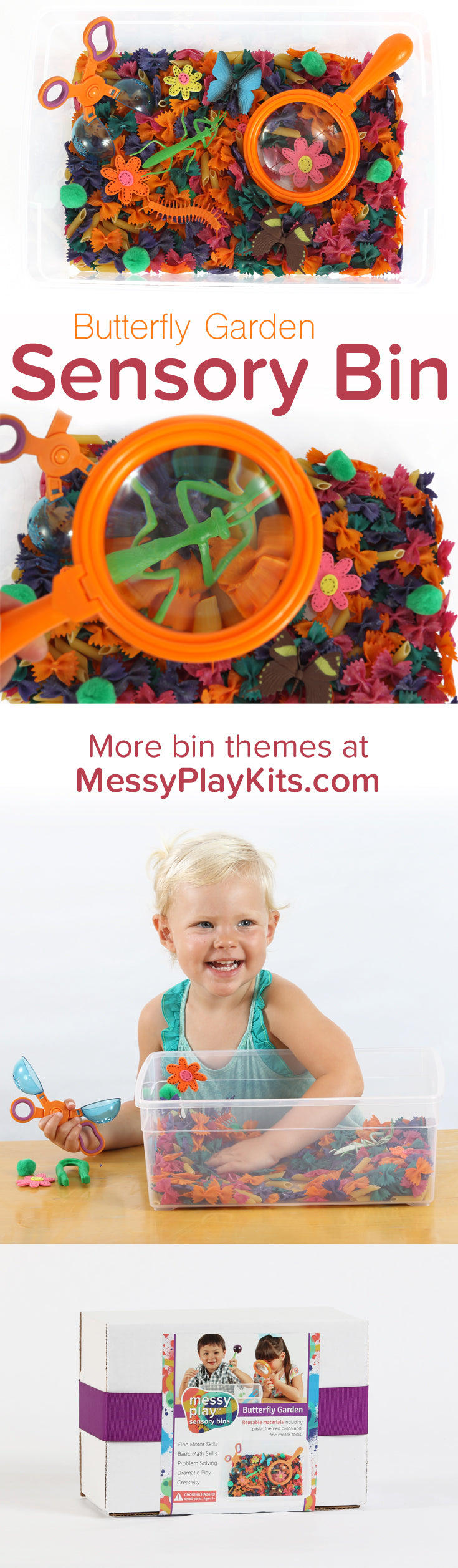Butterfly Garden Sensory Bin from Messy Play Kits
