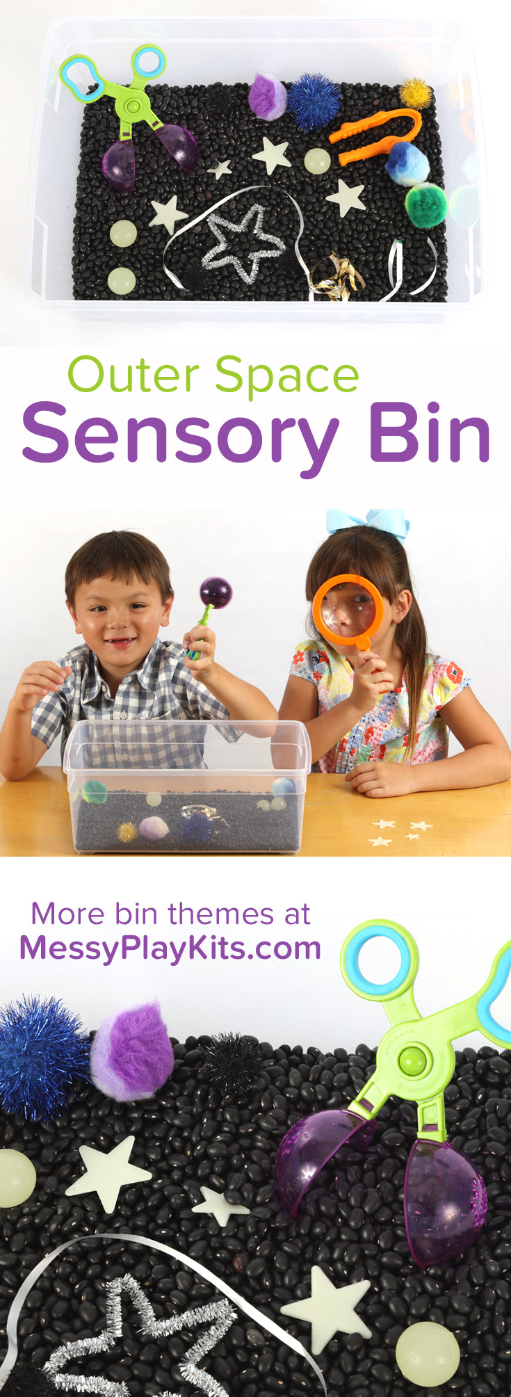 Outer Space Sensory Bin from Messy Play Kits
