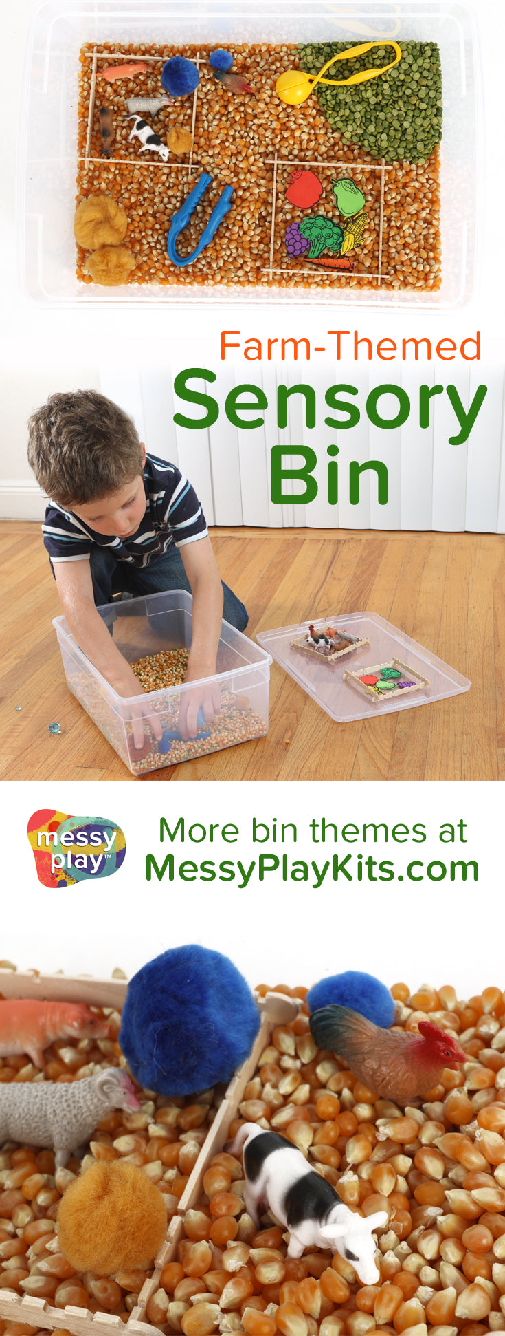 Farm Sensory Bin from Messy Play Kits