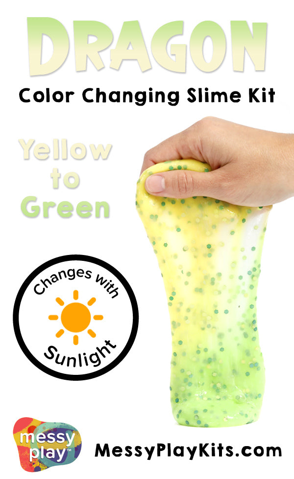 Color Changing Dragon Slime from Messy Play Kits