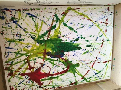 Marble painting from the Crazy Colors Messy Play Kit