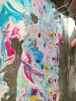 Oobleck from the Crazy Colors Messy Play Kit