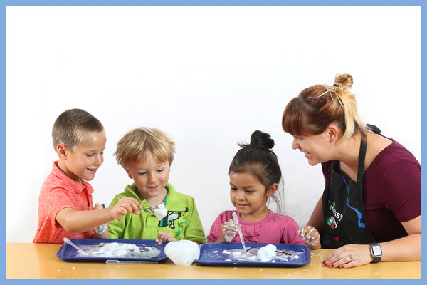 Messy play encourages scientific curiosity and learning preschool science concepts in children for a strong start in STEAM
