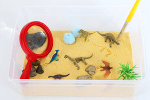 Dinosaur Excavation Sensory Bin