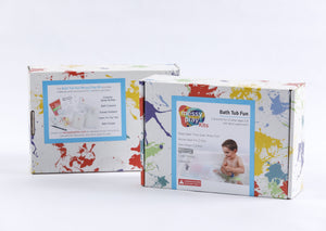 Bath Tub Fun Messy Play Kit box, front and back