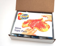 Load image into Gallery viewer, Open box revealing the Slime Triple Pack display card.