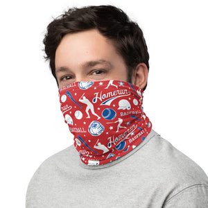 Baseball Face Mask Neck Gaiter, Washable Soft Cloth Cover Face Mask, Summer Camp Fabric Mouth Cover, Comfortable Neck Warmer