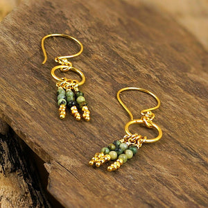 """Zolin"" African Turquoise Aztec Earrings"