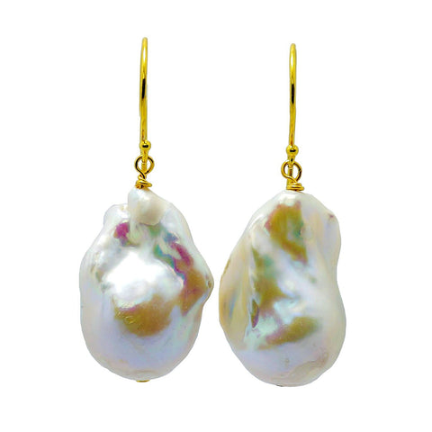 """Agatha"" Baroque Pearl Earrings"