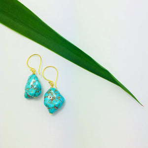 """Kuuva"" Howlite Earrings"
