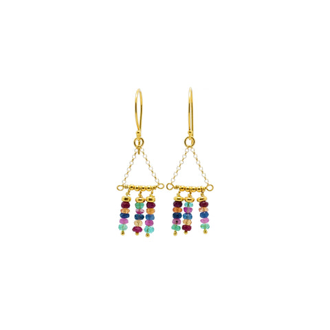 """Itzel"" Aztec Birthstone Earrings"