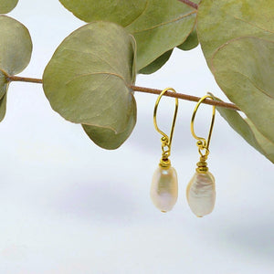 """Dawn"" Pearl Drop Earrings"