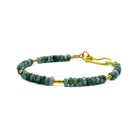 """Forest"" Tree Agate Bracelet"