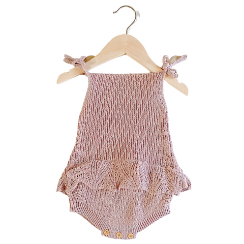 Pointelle Knit Romper