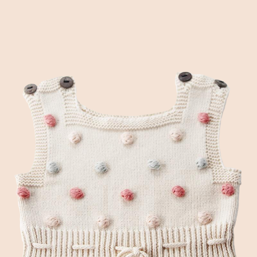 Popcorn Knit Playsuit