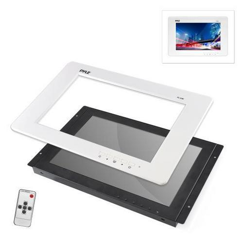 12.5'' Video Monitor Panel Display Screen, Full HD 1080p Support, HDMI/RCA/VGA Connectors (Universal Mount: In-Wall / In-Vehicle Custom Installation)