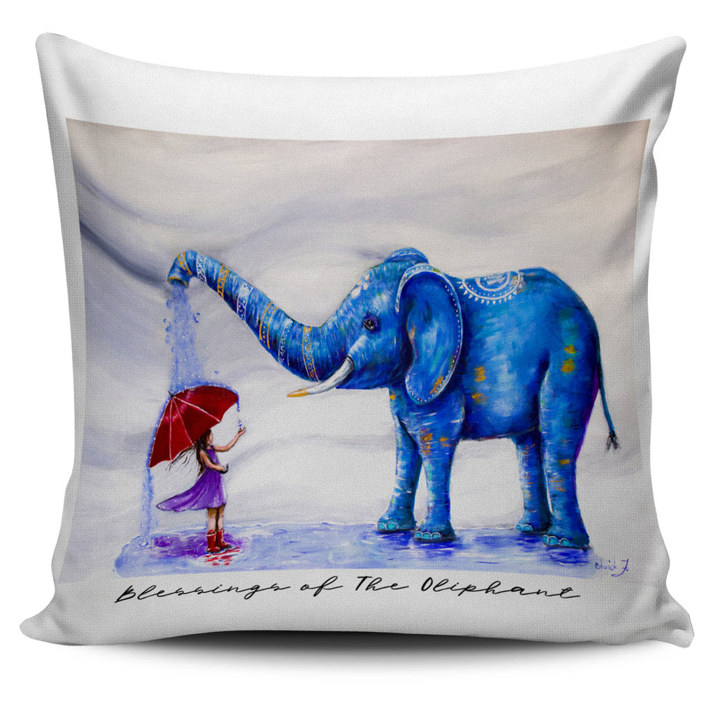 Blessings of The Oliphant Throw Pillow Cover 18x18in