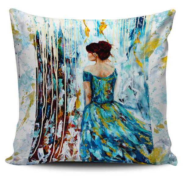 Her Storm Throw Pillow Cover 18x18in