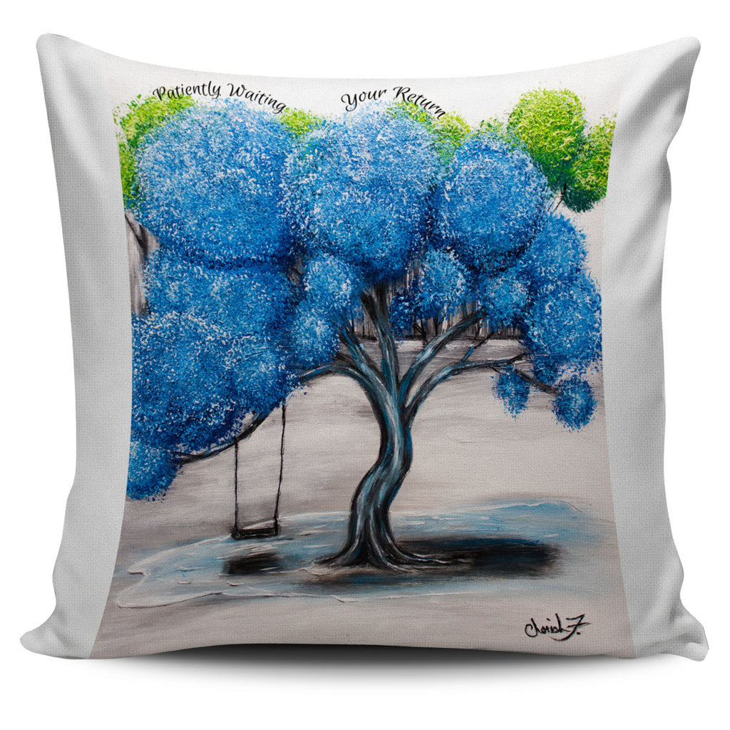 Patiently Waiting Your Return Throw Pillow Cover 18x18in