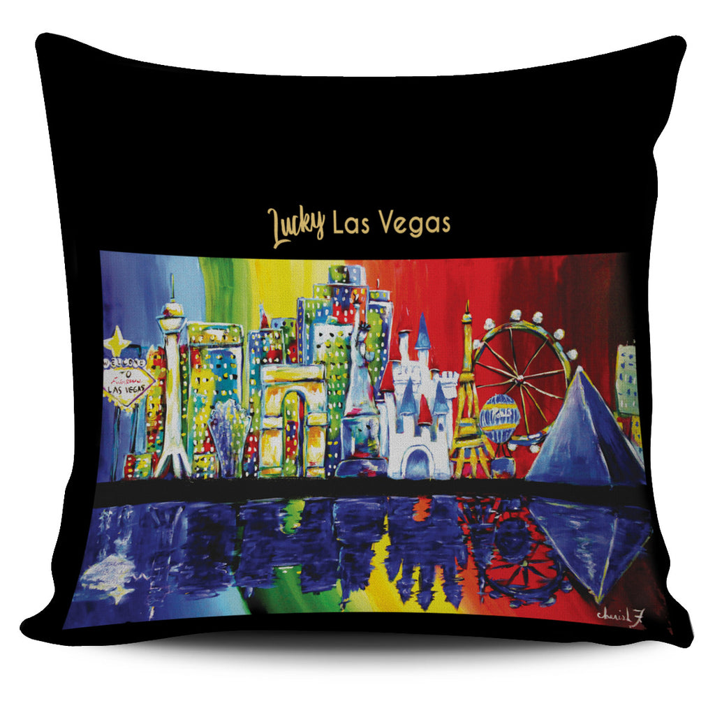 Lucky Las Vegas Throw Pillow Cover 18x18in