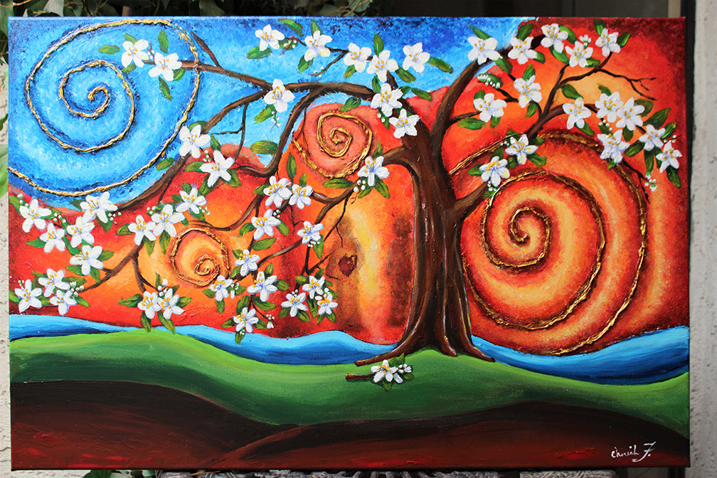 Guardians Garden Original Painting