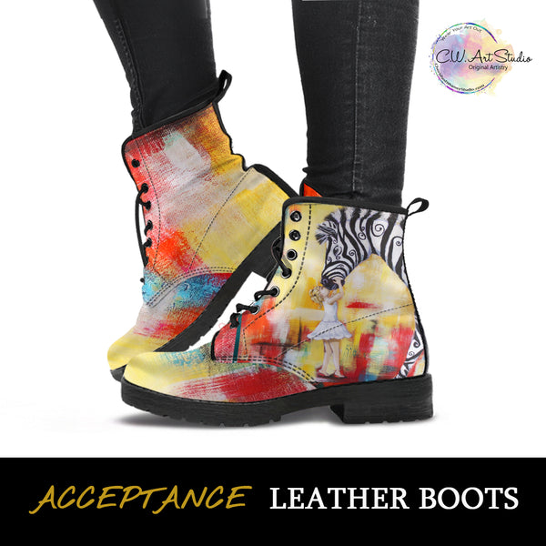 Acceptance Indie Art Leather Boots