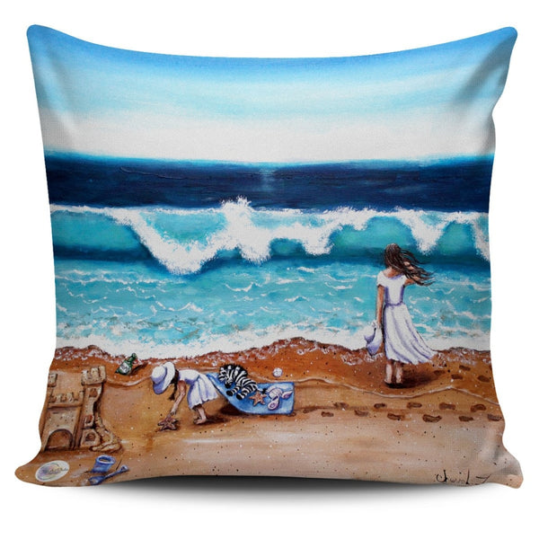 The Beach Throw Pillow Cover 18x18in