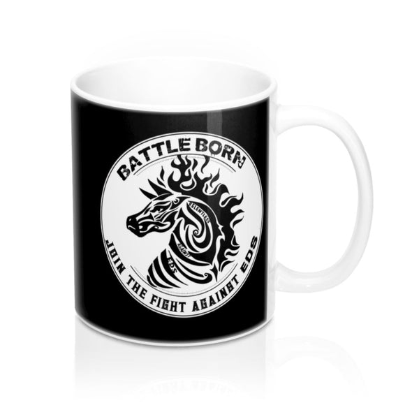 Battle Born EDS Black White Mug 11oz