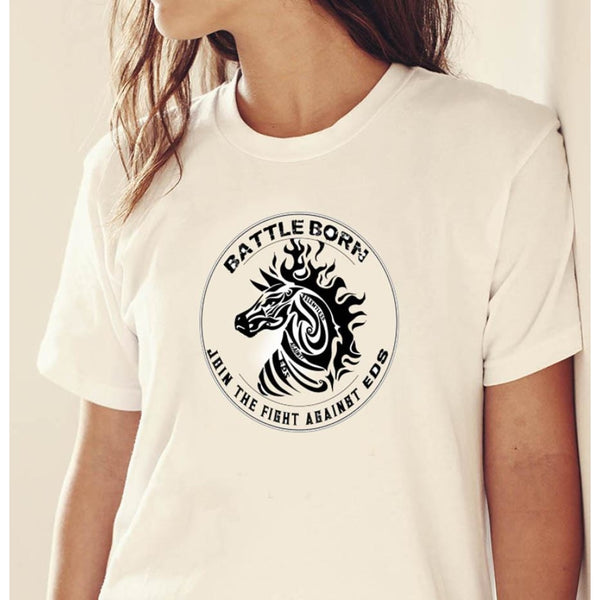 Battle Born Tribal EDS Zebra Unisex T-Shirt