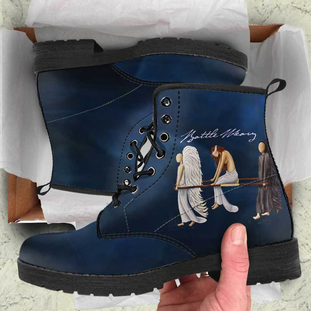 Battle Weary Angels Boots - C.W. Art Studio