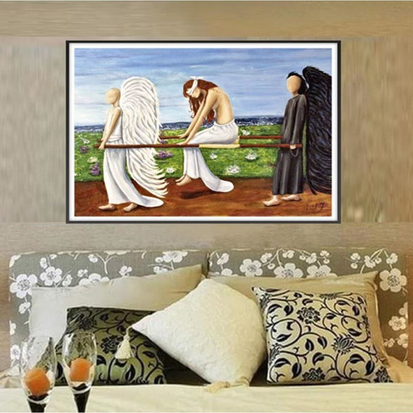 Battle Weary Angels Fabric Wall Poster - C.W. Art Studio