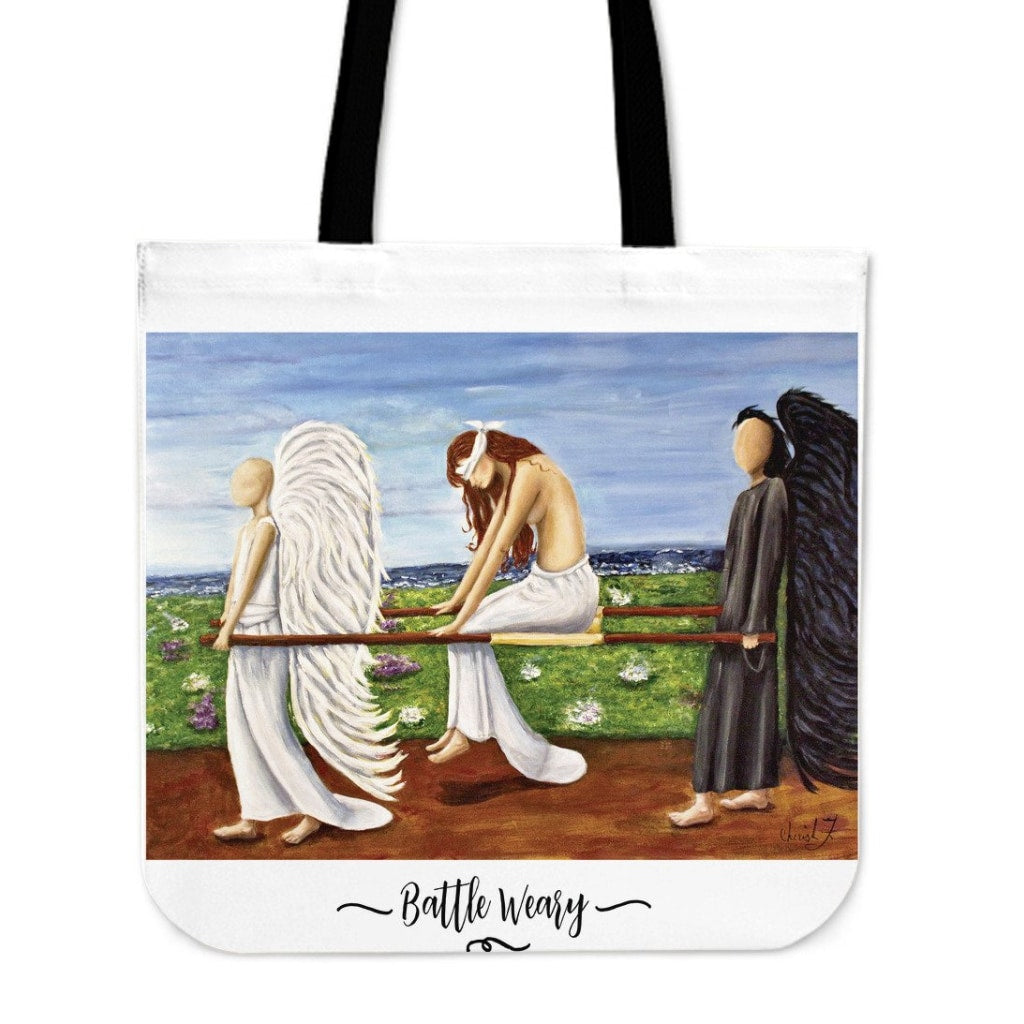 Battle Weary Tote - Tote Bags C.w. Art Studio