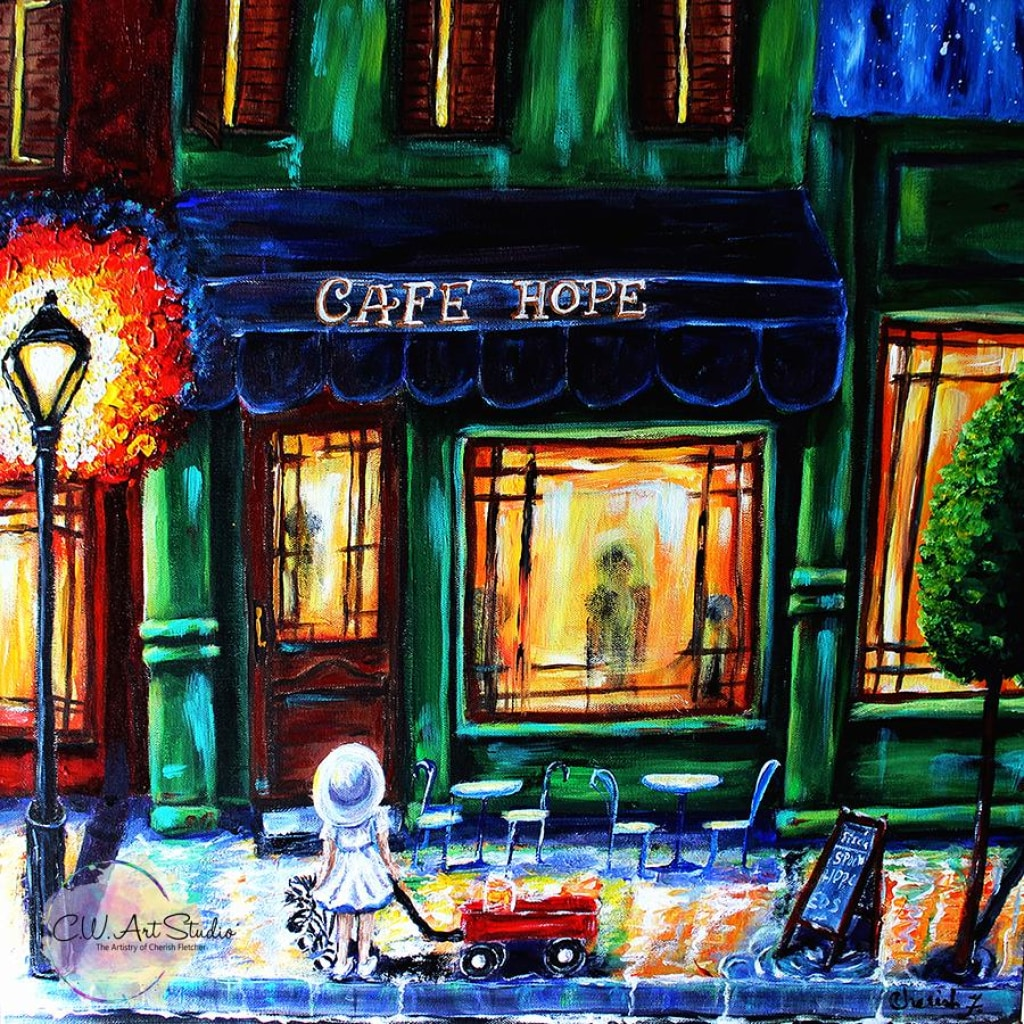 Cafe Hope Glicee Canvas Print