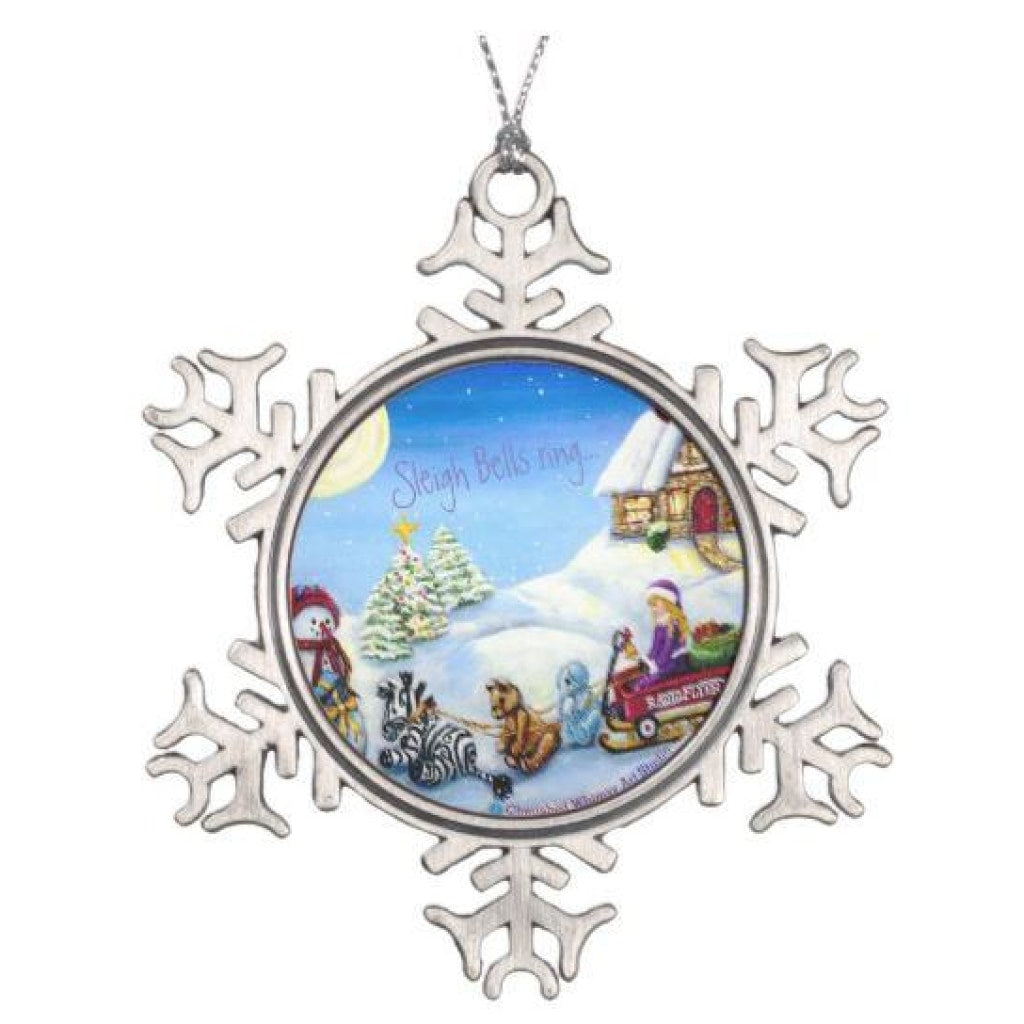 Christmas Ornament - 2017 Snowflake Keepsake Sleigh Bells Ring... - Christmas Ornament C.w. Art Studio