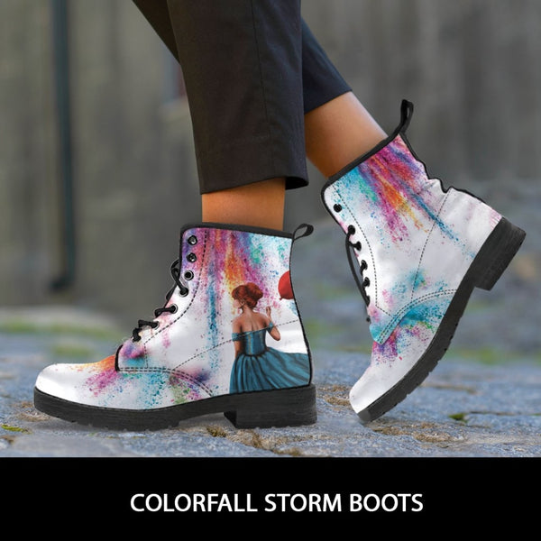 Colorfall Storm Boots - C.W. Art Studio