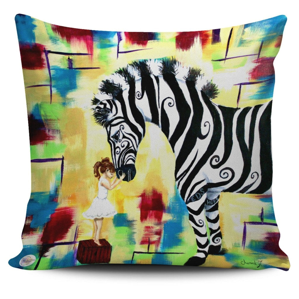 Courage Throw Pillow Cover 18x18in